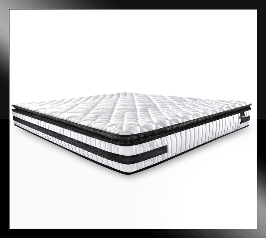 Atlas Black - Cold Foam Pillow Top Mattress with Firm Edge, King size