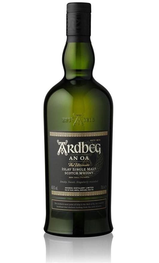 Ardbeg `An Oa` Single Malt Scotch Whisky (6 x 700mL), Islay.