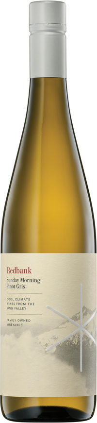 Redbank `Sunday Morning` Pinot Gris 2018 (6 x 750mL), King Valley, VIC.