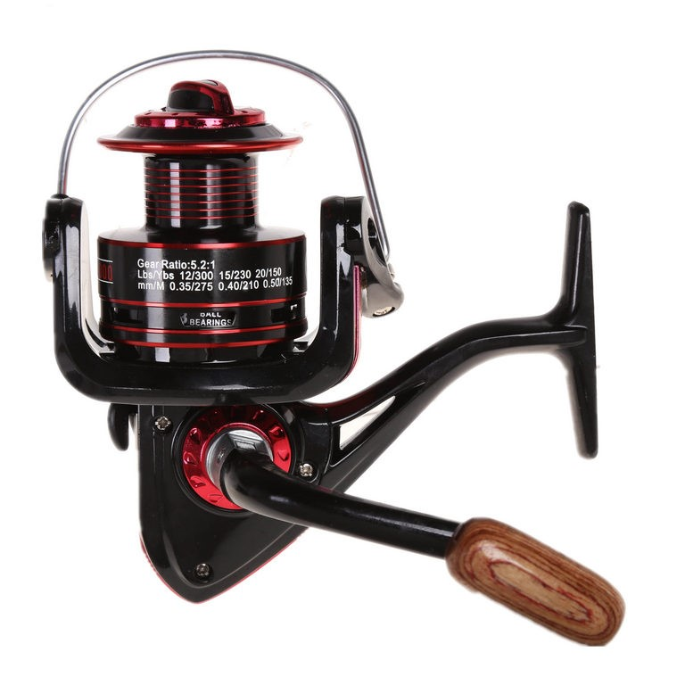 Fishing Reel 13BB Gear Ratio 5.2:1 Line Capacity 0.35mm/275M, 0.40mm/210M,