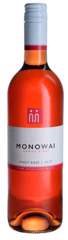 Monowai Winemaker's Selection Pinot Noir Rose 2017 (12 x 750ml) Hawkes Bay