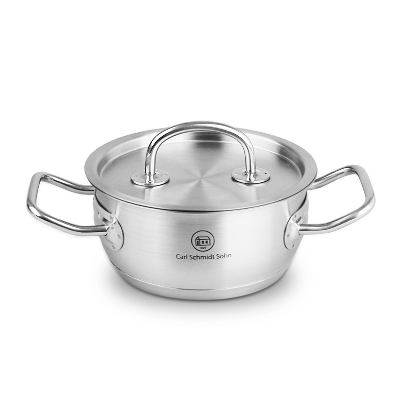 Pro-X 20cm SS Casserole Pot Lid 3L Induction Oven Safe Heavy Duty