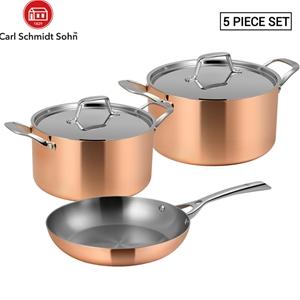Lassani Tri-ply Copper 5pcs Cookware Fry