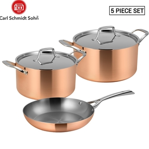 Lassani tri-ply copper Set of 5 Cookware