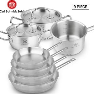 Pro-X 9pcs SS Cookware Set Casserole Pot