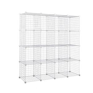 16 Cube Metal Wire Storage Cabinet - Bla