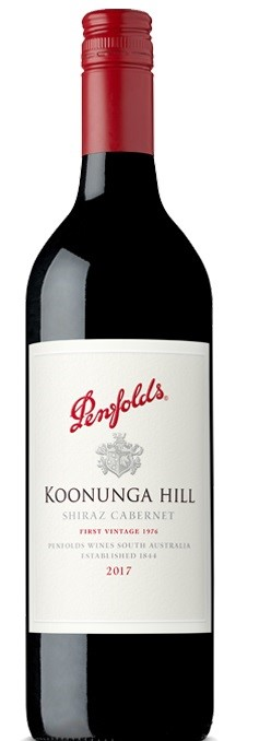 Penfolds `Koonunga Hill` Shiraz Cabernet 2017 (6 x 750mL),SA.
