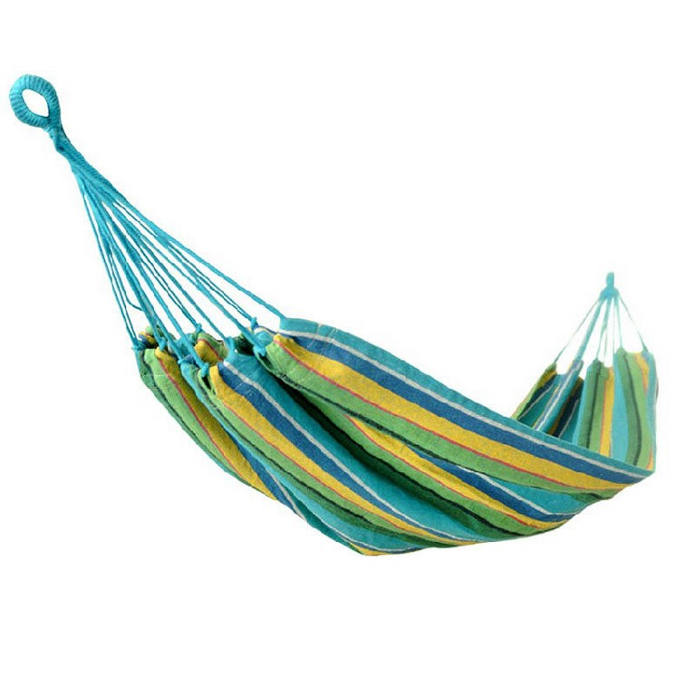 Heavy Cotton Hammock Multi Coloured. Buyers Note - Discount Freight Rates A