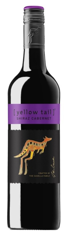 Yellowtail Shiraz Cabernet 2020 (6 x 750mL), SE, AUS.