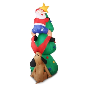 Jingle Jollys Inflatable Santa On Tree