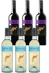 Yellowtail Sauvignon Blanc & Shiraz Cabernet Mixed Pack (6 x 750mL),SE AUS.