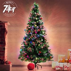 7Ft 210cm Fibre Optic LED Xmas Tree - BA