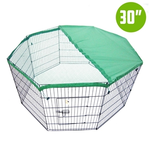 "8 Panel Foldable Pet Playpen 30"" w/ Cove"