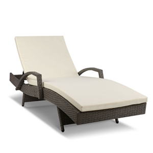 Gardeon Outdoor Sun Lounge - Grey