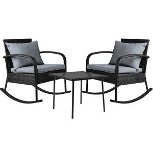 Gardeon 3 Piece Outdoor Rocking Chair Se