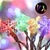 Jingle Jollys 20M Christmas Snowflake String Lights - Multi Colour