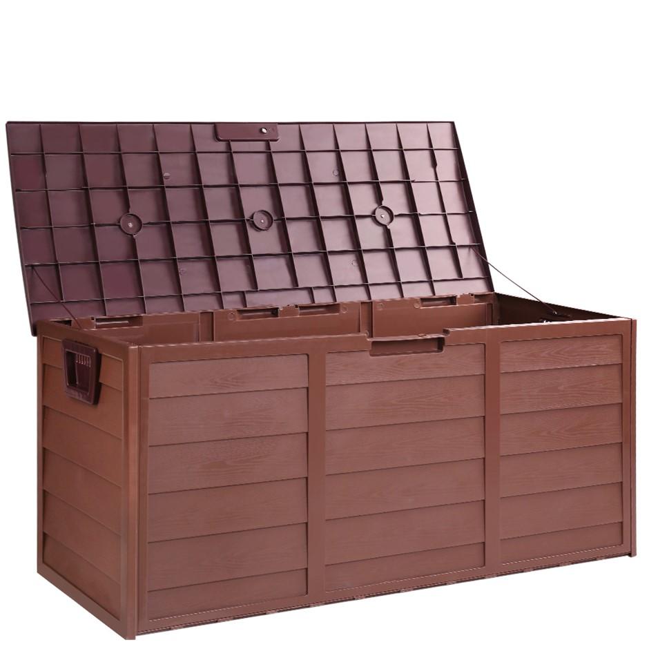 Gardeon Outdoor Lockable Storage Box - Chocolate