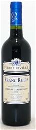 Franc Rubis Cabernet Sauvignon 2016 (12x 750ml), France.