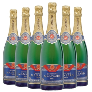 Mansard Champagne NV (6 x 750mL), France