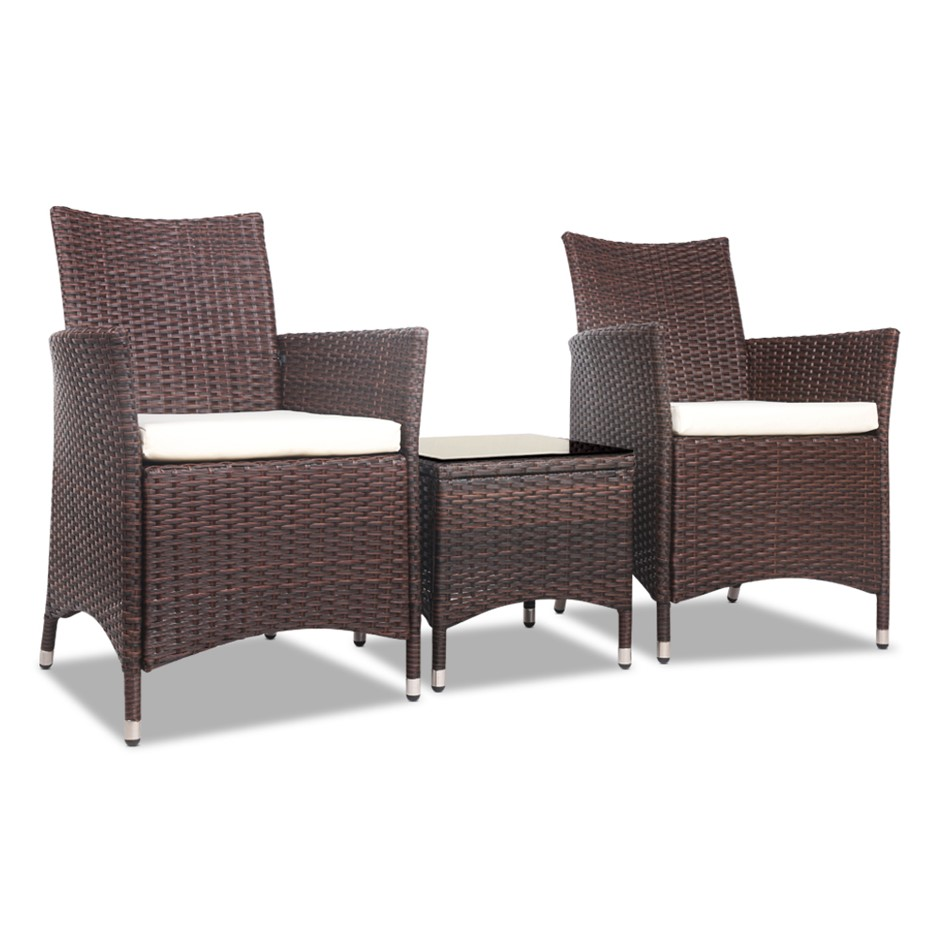 Gardeon Bistro Chair - Brown
