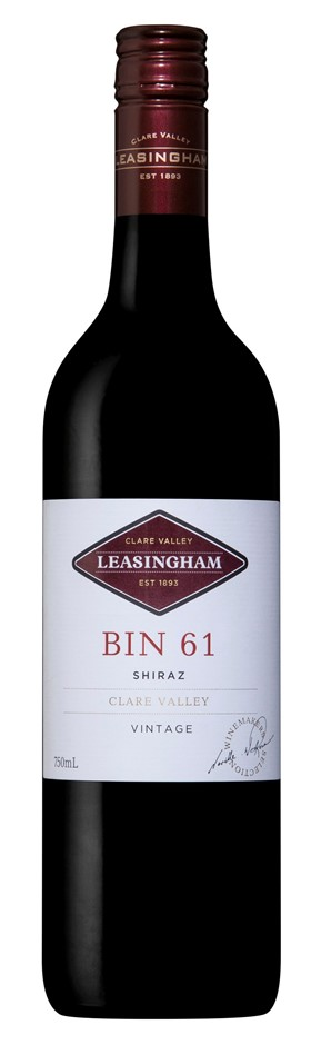 Leasingham `Bin 61` Shiraz 2016 (6 x 750mL), Clare Valley, SA.