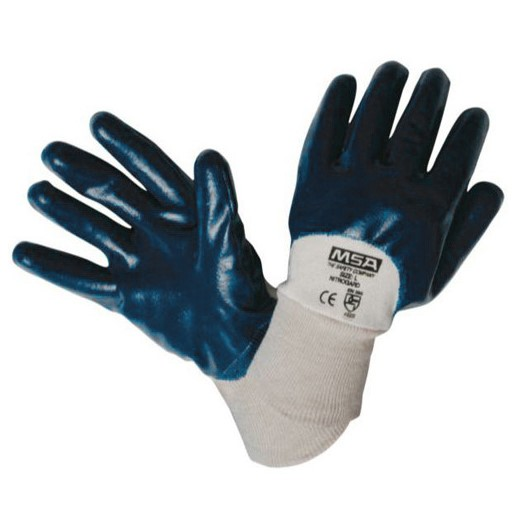 12 Pairs x Nitrile Coated Work Gloves, Size S with Knit Wrists. Buyers Note