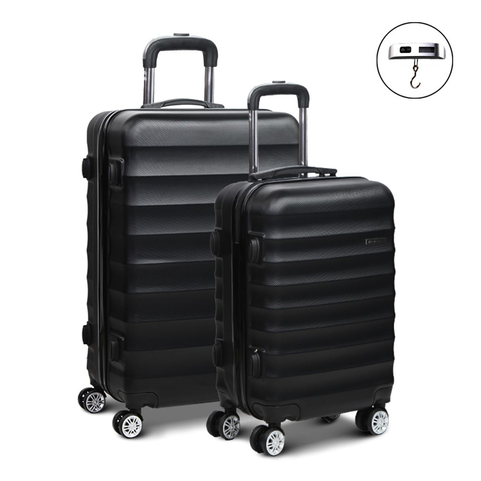 Wanderlite 2 Piece Lightweight Hard Suit Case - Black