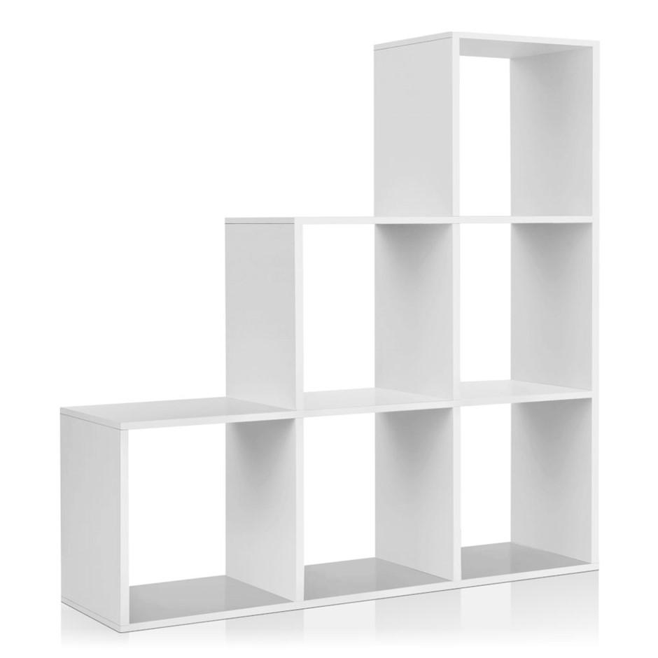 Artiss 6 Cube Staircase Display Shelf - White