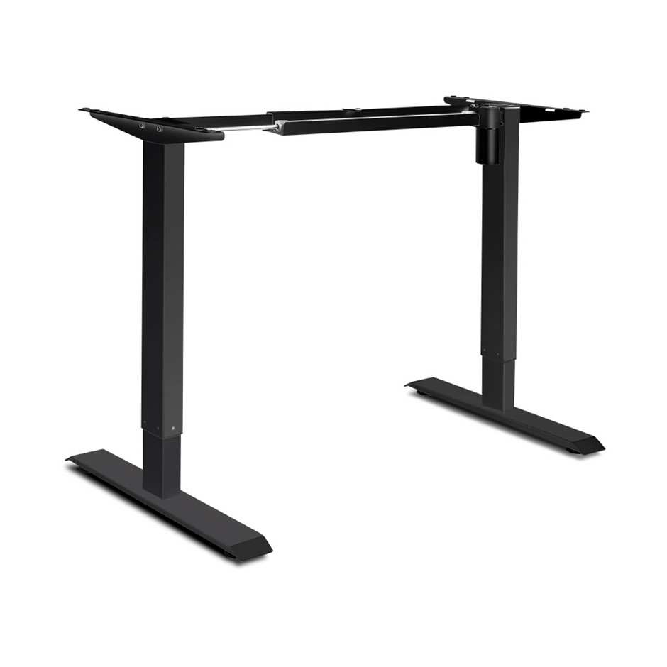 Motorised Height Adjustable Standing Desk Frame - Black