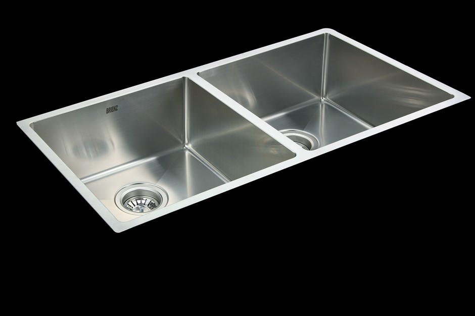 865x440mm Handmade Stainless Steel Undermount / Topmount Kitchen Sink