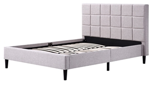 Double Linen Fabric Deluxe Bed Frame Bei