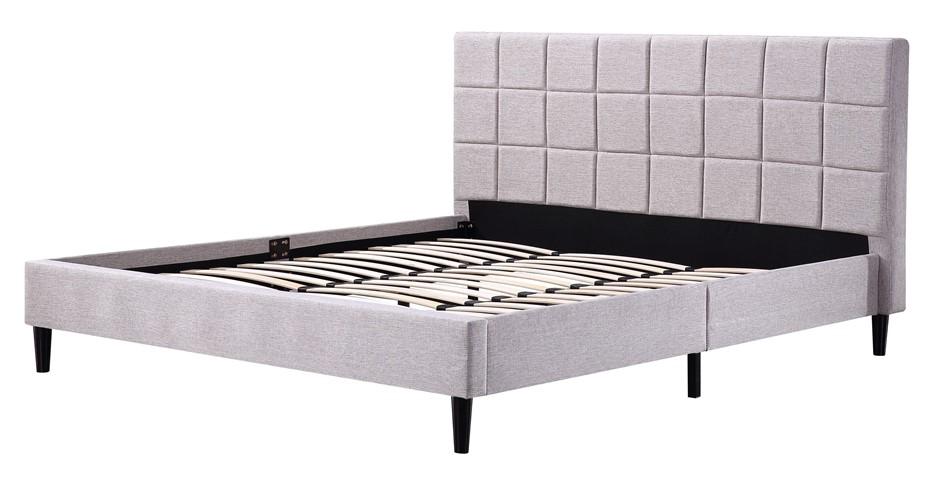 King Linen Fabric Deluxe Bed Frame Beige