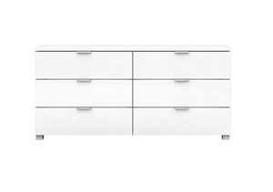Kyana High Gloss 6 Drawer Low Boy Chest