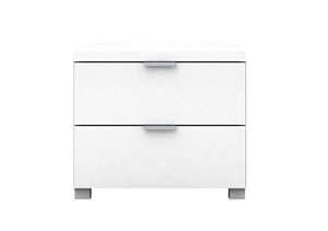 Kyana High Gloss 2 Drawer Side Table - W