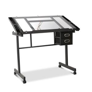 Artiss Adjustable Drawing Desk - Black a