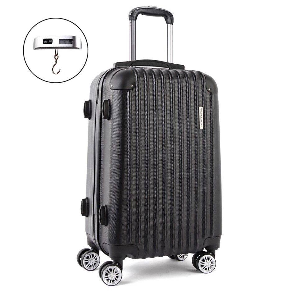 Wanderlite 20inch Lightweight Hard Suit Case - Black