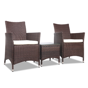 Gardeon 3 Piece Wicker Outdoor Furniture