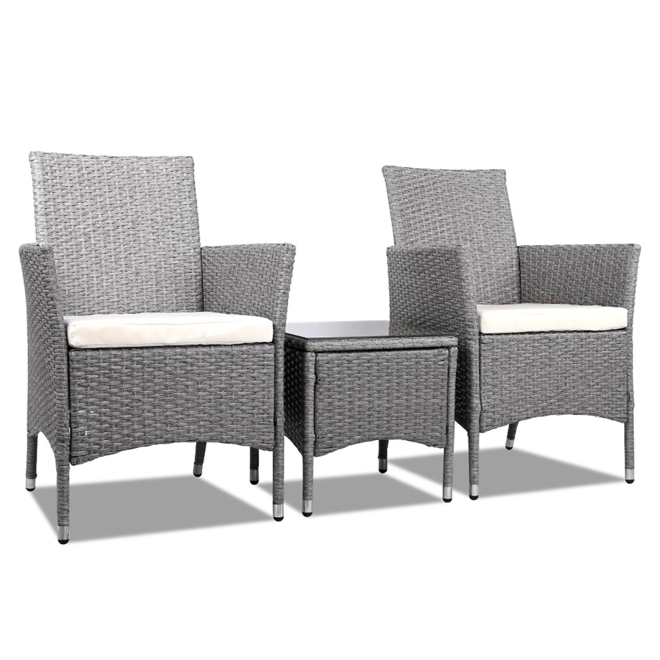 Gardeon Bistro Chair - Grey