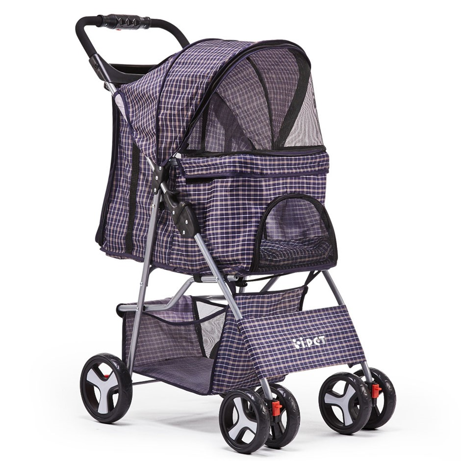 Pet 4 Wheel Pet Stroller - Blue