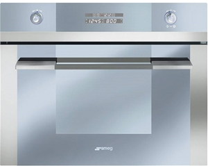 Smeg 34l Stainless Steel Compact Microwave Convection Oven Sca45m2