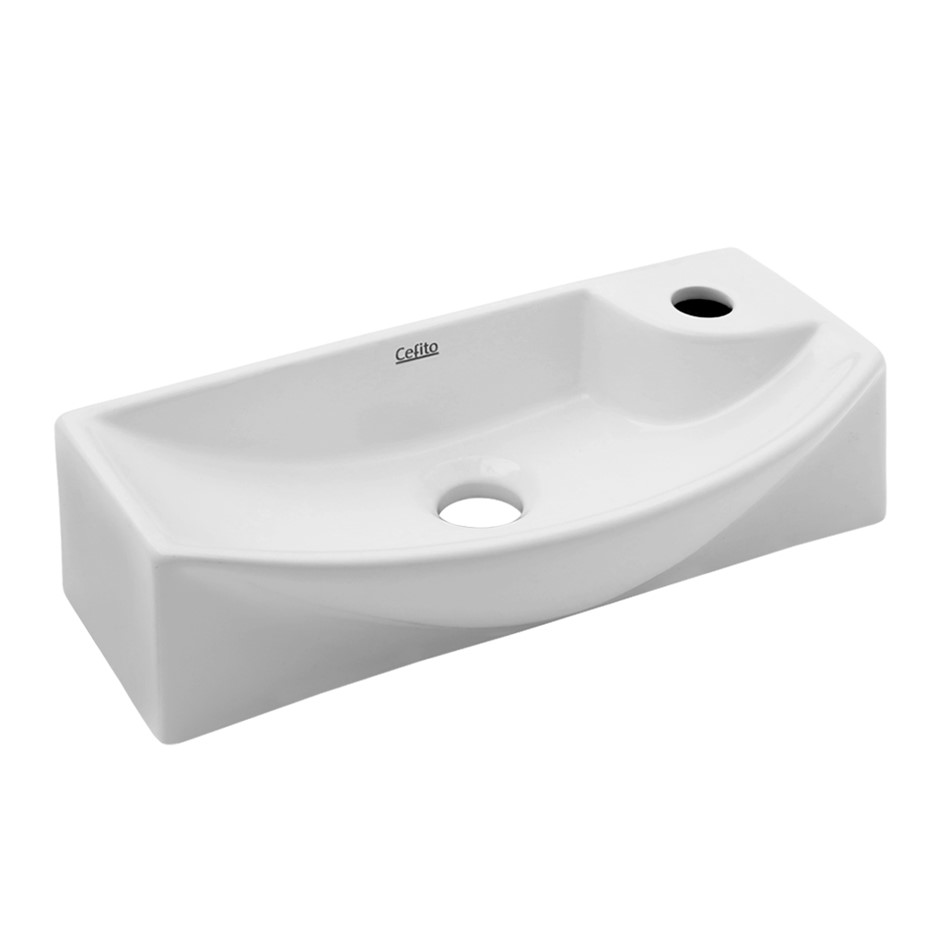Cefito Ceramic Bathroom Basin - White