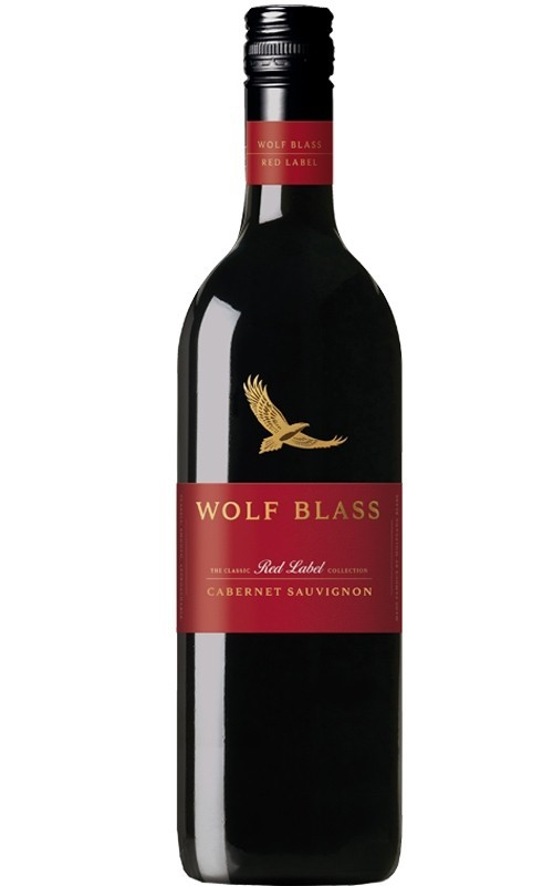 Wolf Blass `Red Label` Cabernet Sauvignon 2018 (6 x 750mL), SE AUS.