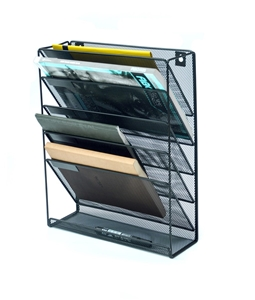 Wall Mount 6 Pocket Hanging File Sorter