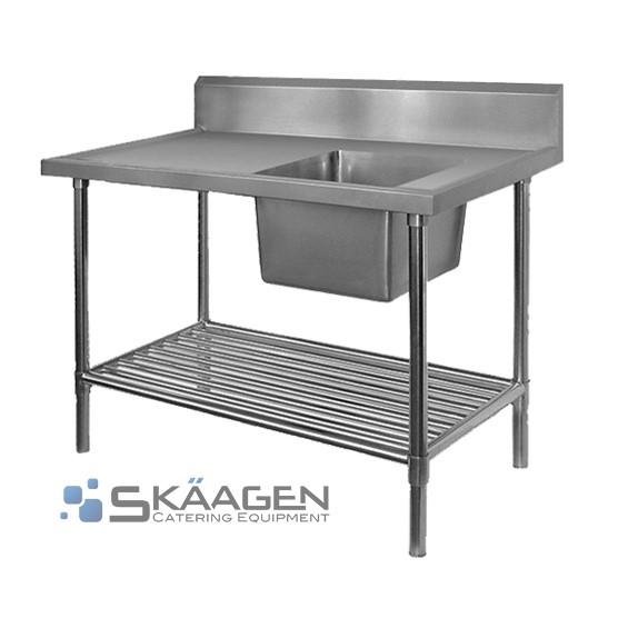 Unused Single Right 2200 x 600 Stainless Steel Sink FSA-1-2200R