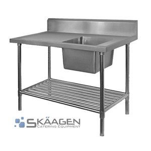 Unused Single Right 2400 x 600 Stainless