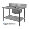 Unused Single Right 2400 x 600 Stainless Steel Sink FSA-1-2400R