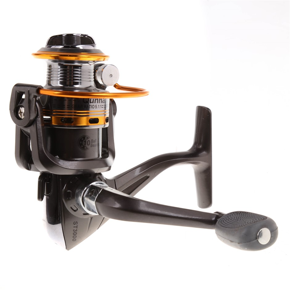 Fishing Reel Gear Ratio 5.1:1 Ball Bearing 10, Line Capacity 0.22/200, 0.25