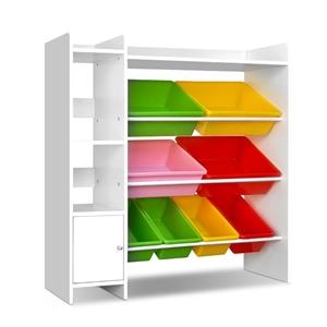 Keezi 8 Bins Kids Toy Box Storage Organi