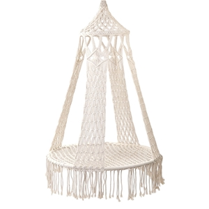 Gardeon Hammock Boho Swing Chair - Cream