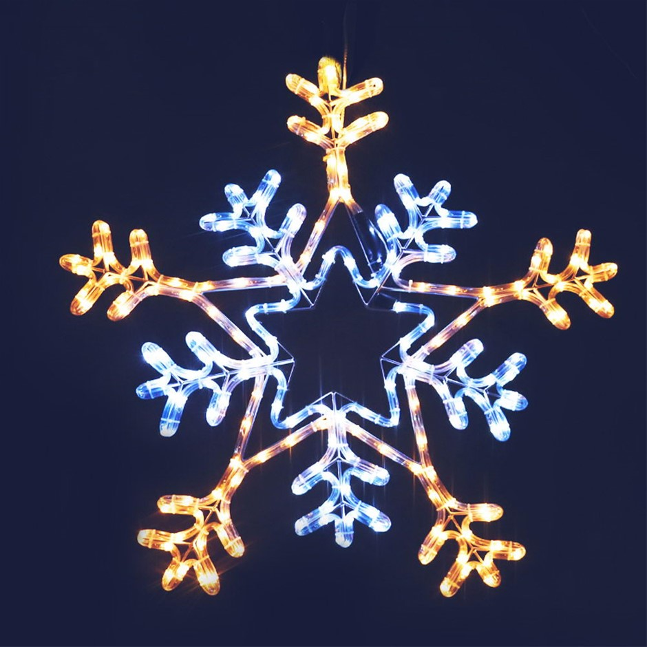 Jingle Jollys Christmas LED Motif Lights - Multi Colour Snowflake